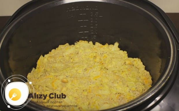 Запеканка из капусты в мультиварке будет готовиться 40 минут.