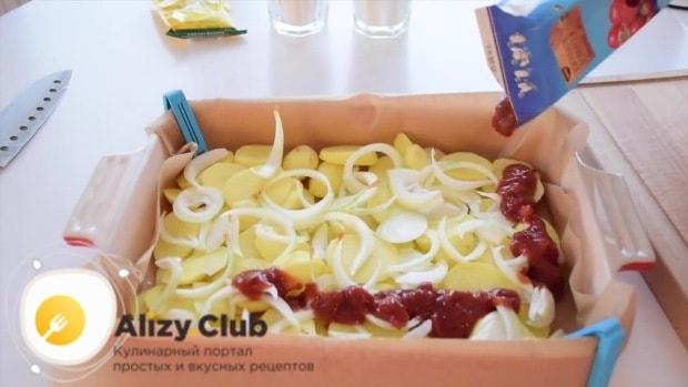 пирог с картошкой и луком в мультиварке