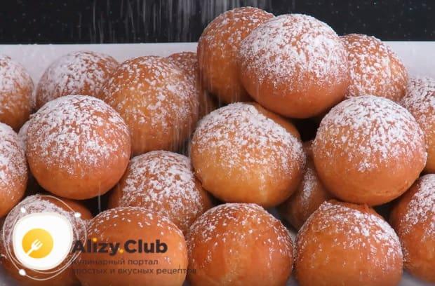 Классический рецепт приготовления творожных пончиков жареных в масле
