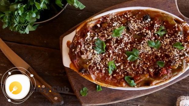 Вкуснейшая овощная лазанья готова.