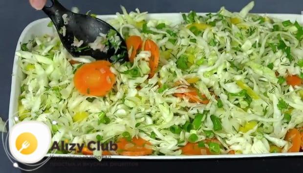 Третий слой – оставшаяся овощная смесь