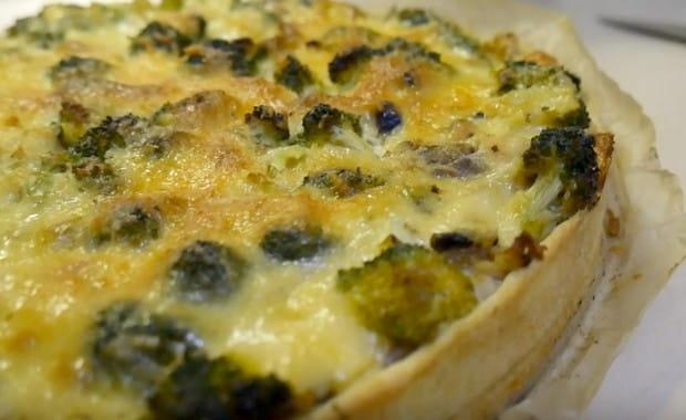 Как приготовить Лоранский пирог с курицей и грибами по пошаговому рецепту с фото