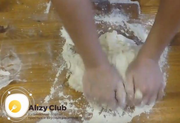 Замешиваем гладкое тесто.