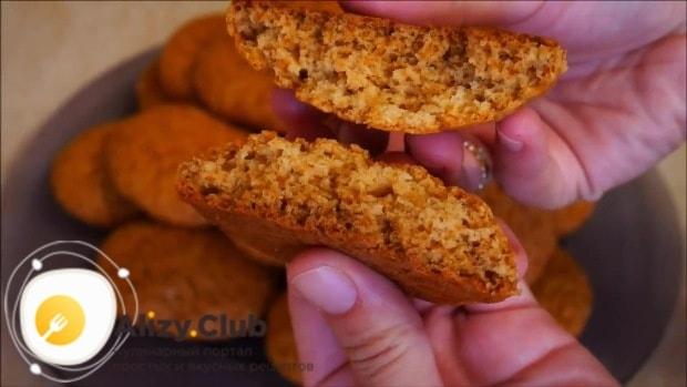 Отправляем печенье в ранее разогретую до + 180°