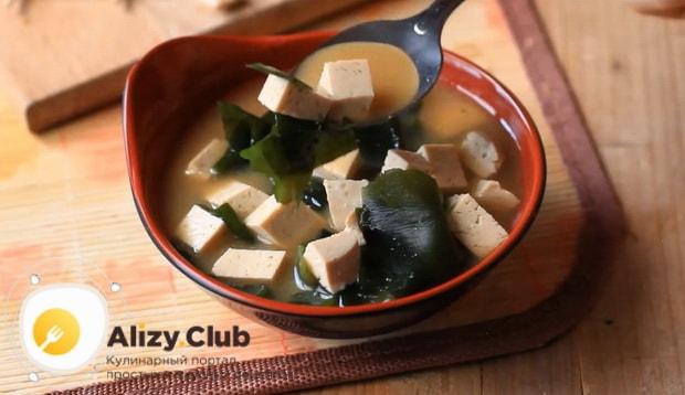 Вкуснейший мисо суп готов.