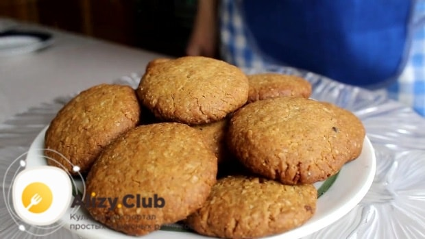 Отправляем печенье в предварительно разогретую духовку
