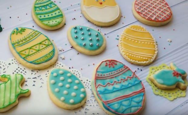 Как приготовить пасхальное печенье с глазурью по пошаговому рецепту с фото