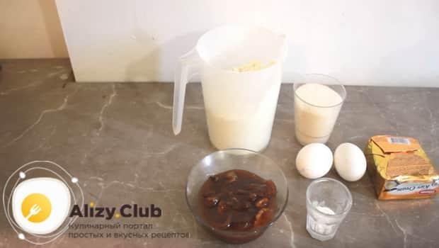 Ингредиенты для открытого пирога из песочного теста с вареньем