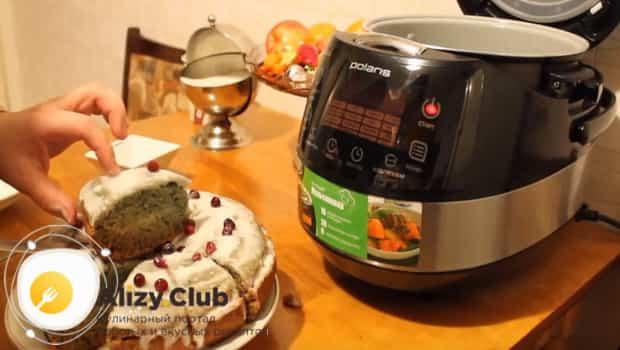 Готовый пирог подаем к столу