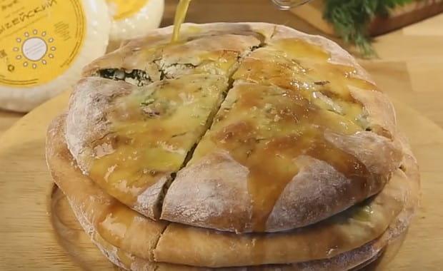 Пошаговый рецепт приготовления пирога с сыром