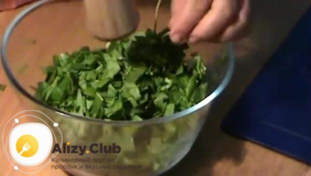 Готовим начинку из щавеля для пирожков