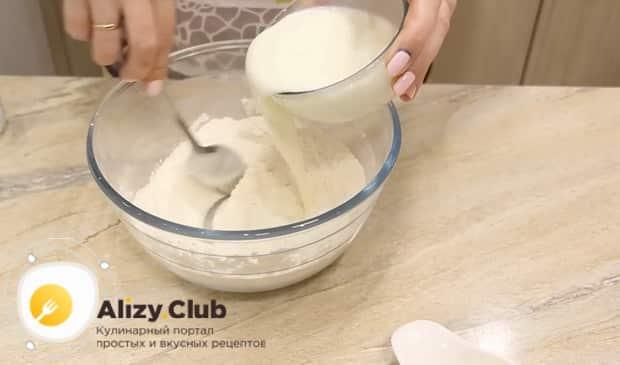 Как готовится пицца на сковороде на сметане