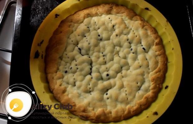Готовим пирог с черникой из песочного теста в домашних условиях