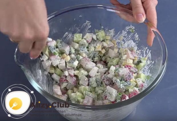 Как приготовить весенний салат с капустой и огурцом по детальному рецепту
