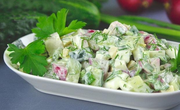Как сделать салат Весенний по пошаговому рецепту с фото
