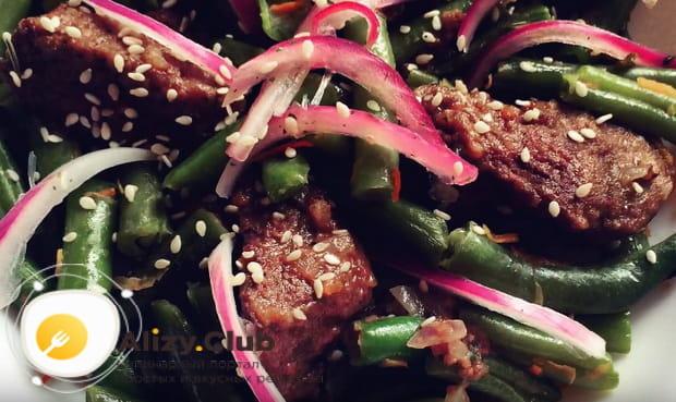 Как приготовить салат с говяжьей печенью и фасолью по подробному рецепту с фото и видео
