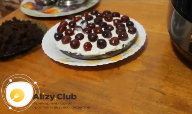 Готовим вкусный пирог с замороженной вишней в мультиварке