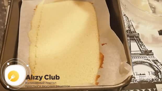Бисквит для приготовления муссовых пирожных готов