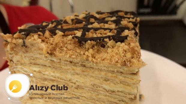 Быстрый торт приготовленный на сковороде готов.
