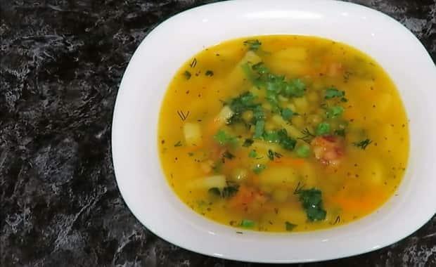 Как приготовить суп с зеленым консервированным горошком по пошаговому рецепту с фото