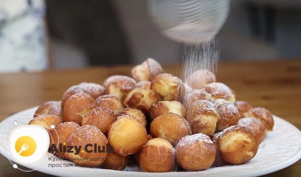 Как приготовить пончики со сгущенкой по детальному рецепту с фото и видео