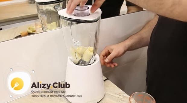 Для приготовления блинов с бананом, подготовьте все ингредиенты.