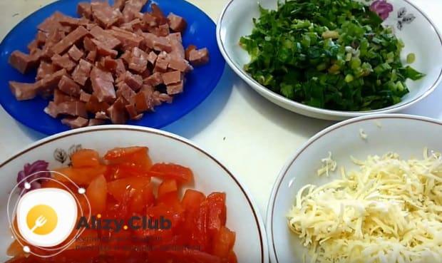 подготавливаем все ингредиенты для лаваша