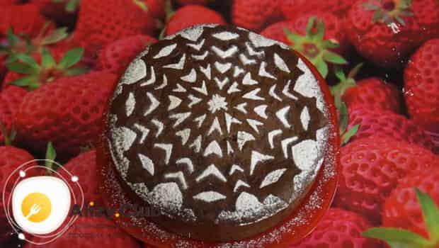 Вот такой шоколадный кекс у нас получился