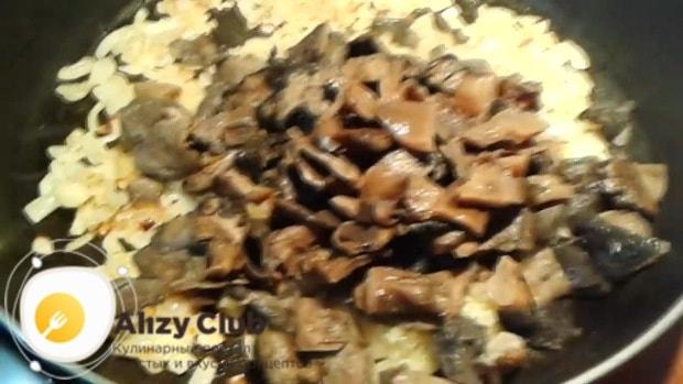 рулет из лаваша с курицей и грибами