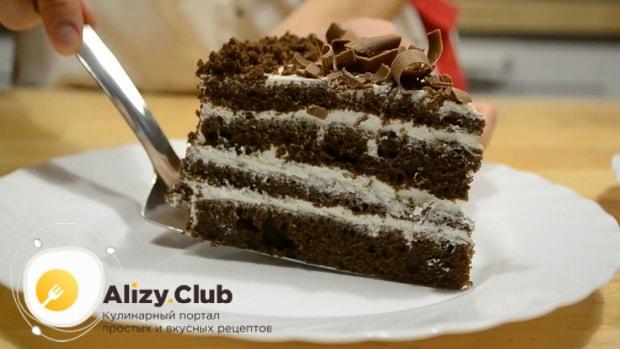 Вкуснейший шоколадный торт приготовленный на кефире готов.