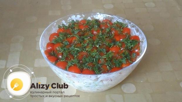 Вкуснейший салат красная шапочка готов.