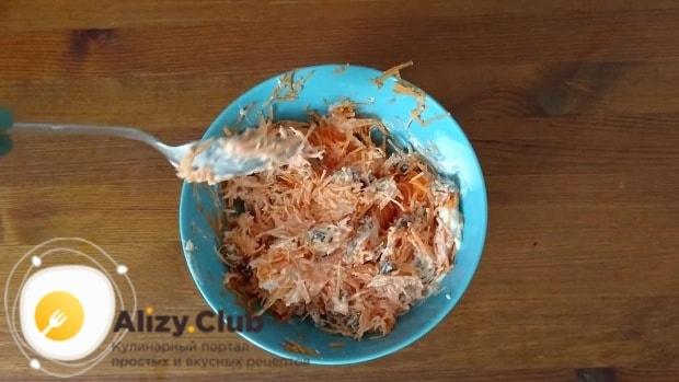 Добавить к моркови 50 г замоченного в кипятке изюма