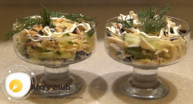 Вкуснейший салат нежность готов.