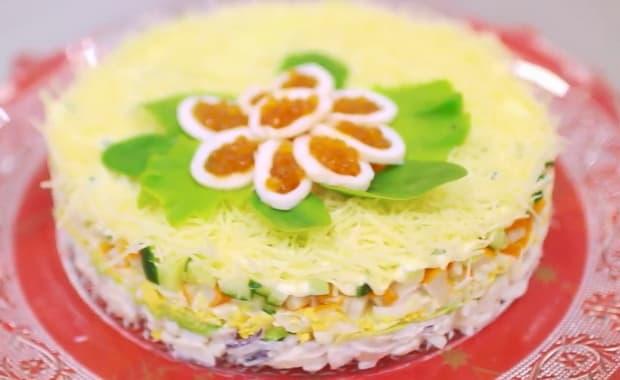 Как приготовить салат Нежность по пошаговому рецепту с фото