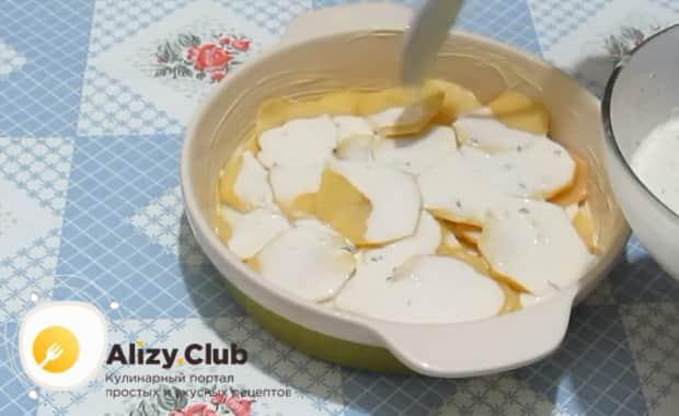 Перед тем как сделать картофельную запеканку, подготовьте все ингредиенты