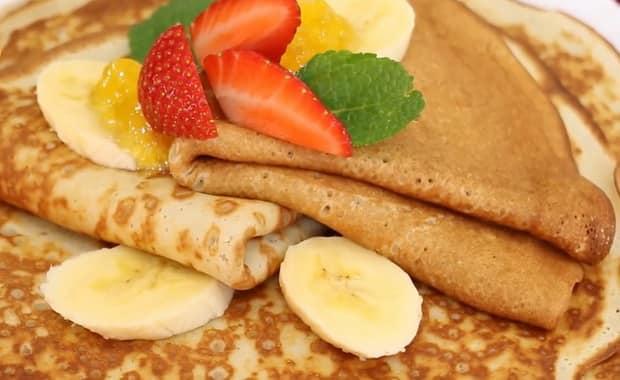 Как приготовить вкусные блины с бананом по пошаговому рецепту с фото