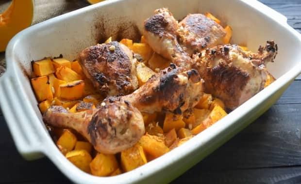 Как приготовить курицу с тыквой по пошаговому рецепту с фото
