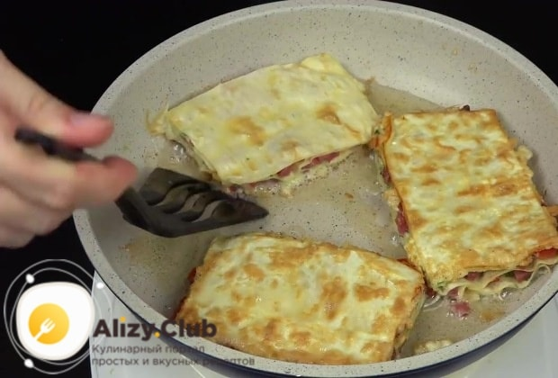 Режем готовую закуску на порционные части