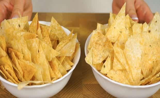 Рецепт приготовления вкусных чипсов из лаваша