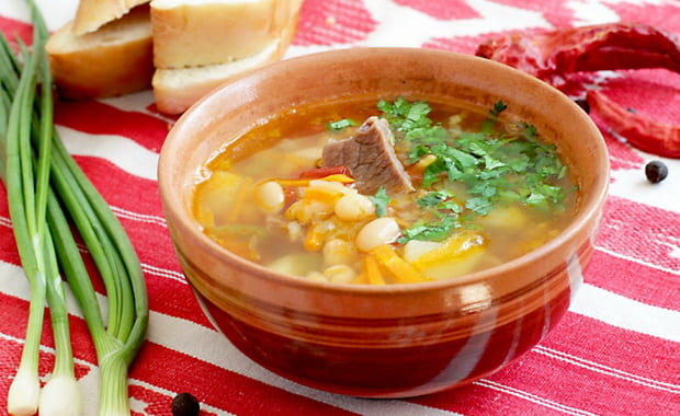 Как приготовить фасолевый суп с мясом по пошаговому рецепту с фото
