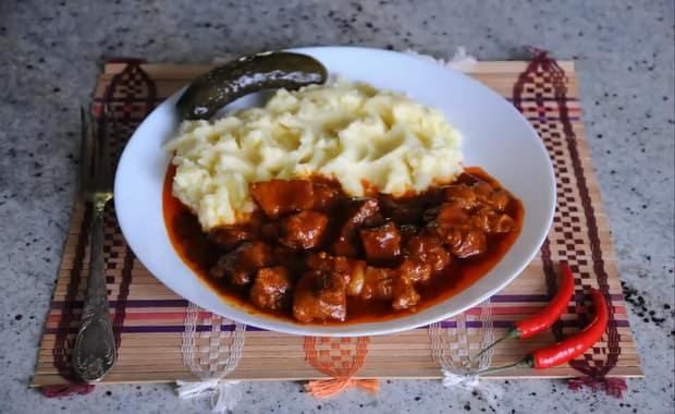 Баранина с подливкой пошаговый рецепт