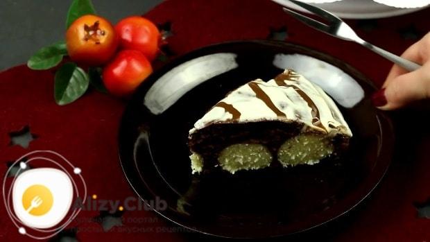 как подать шоколадный пирог