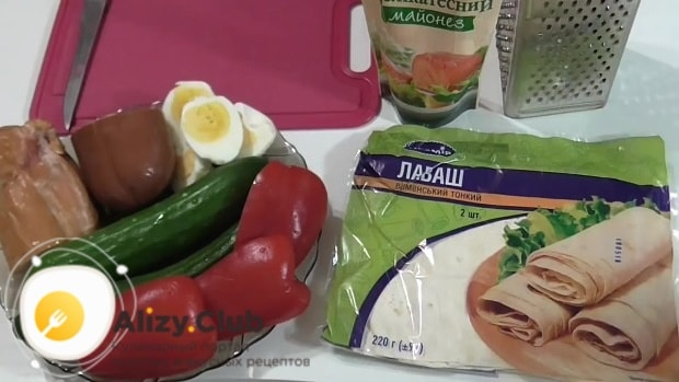 лаваш с курицей рецепты с фото простые и вкусные