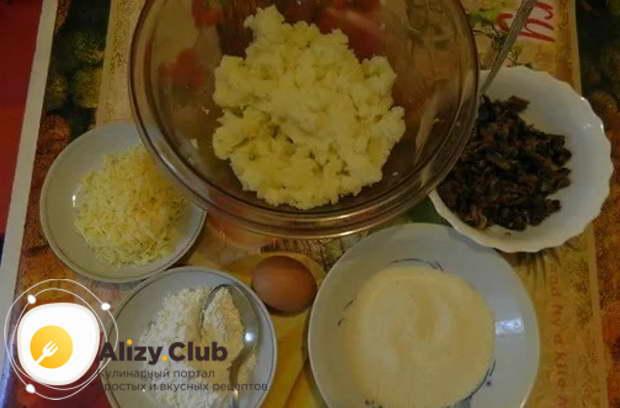 зразы с грибами в духовке, зразы с сыром и грибами