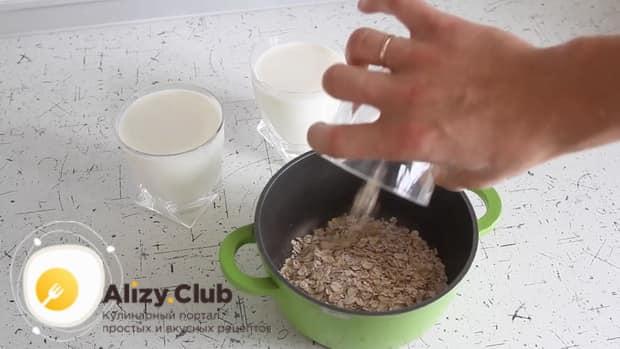Все о том как сварить вкусную овсяную кашу на молоке.