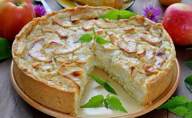 Как приготовить пирог с яблоками на сметане по пошаговому рецепту с фото