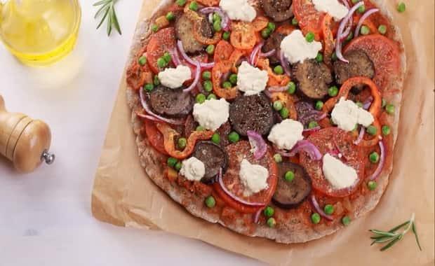 Как сделать вегетарианскую овощную пиццу по пошаговому рецепту с фото