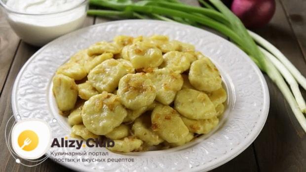 Вкуснейшие ленивые а=вареники с картошкой готовы.