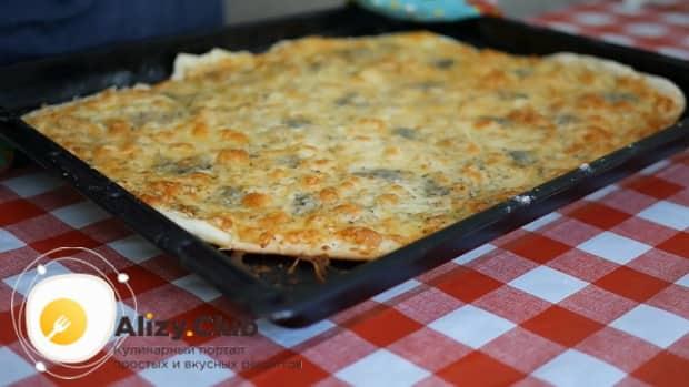 Лучший рецепт приготовления пиццы 4 сыра в домашних условиях.