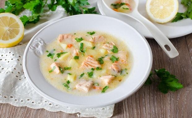 Как приготовить рыбный суп из семги по пошаговому рецепту с фото